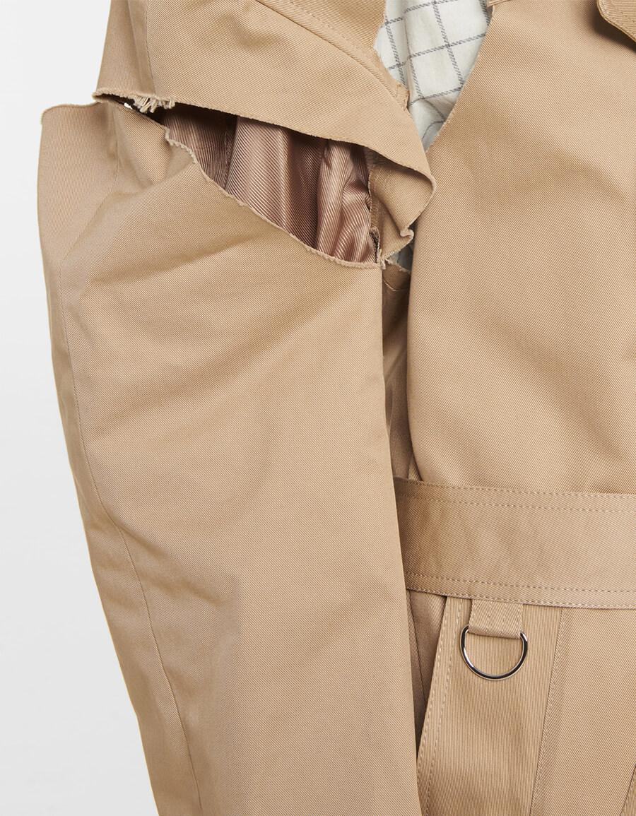 MAISON MARGIELA Deconstructed cotton trench coat