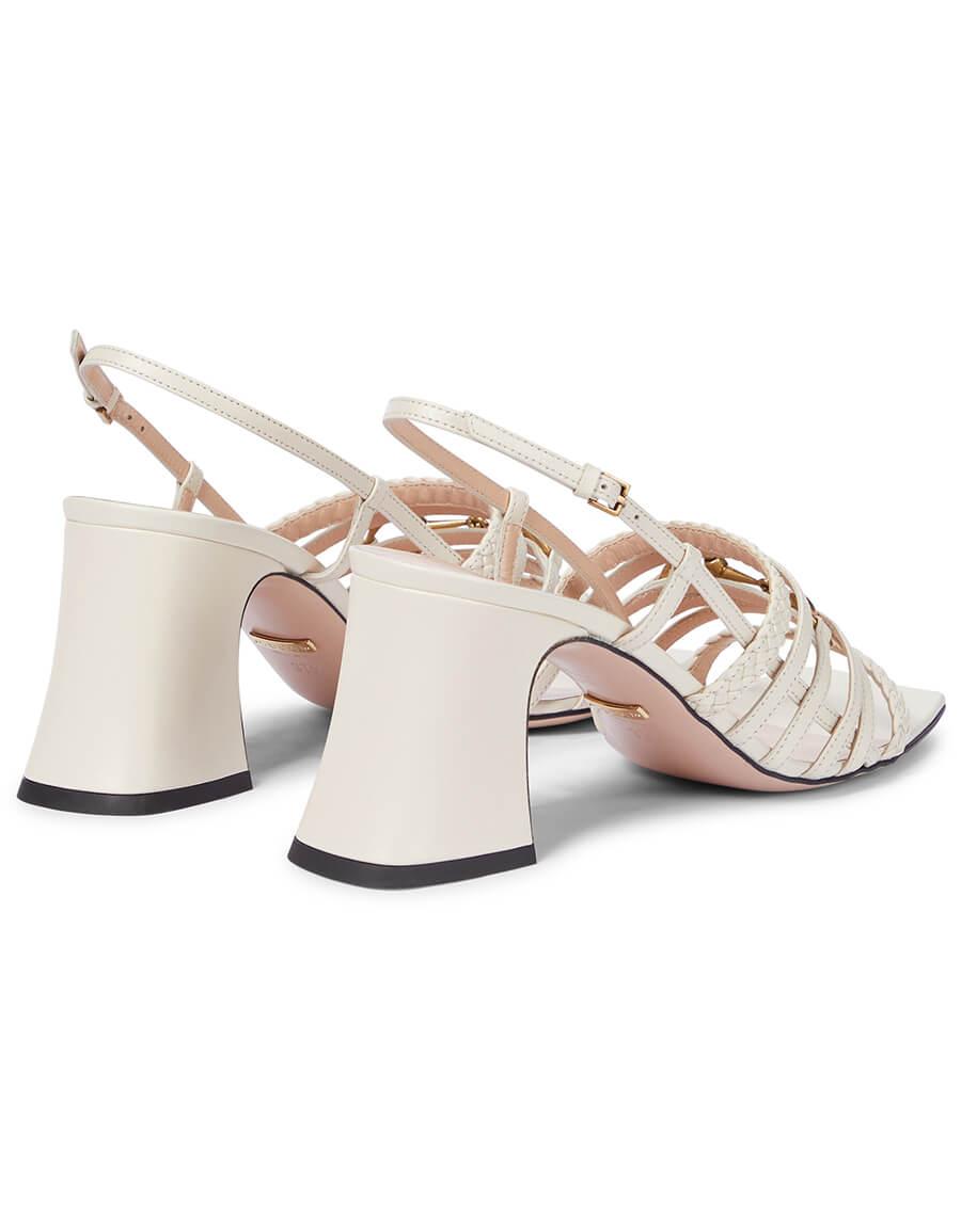 GUCCI Horsebit leather slingback sandals