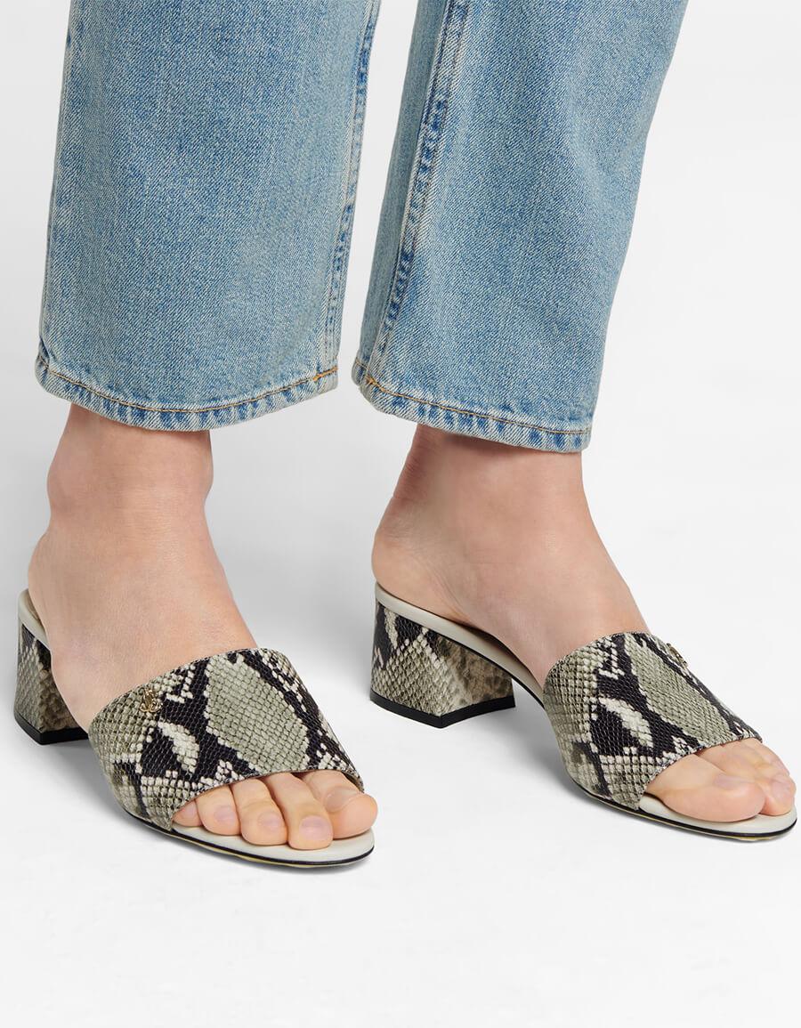 JIMMY CHOO Minea 45 snake effect leather sandals