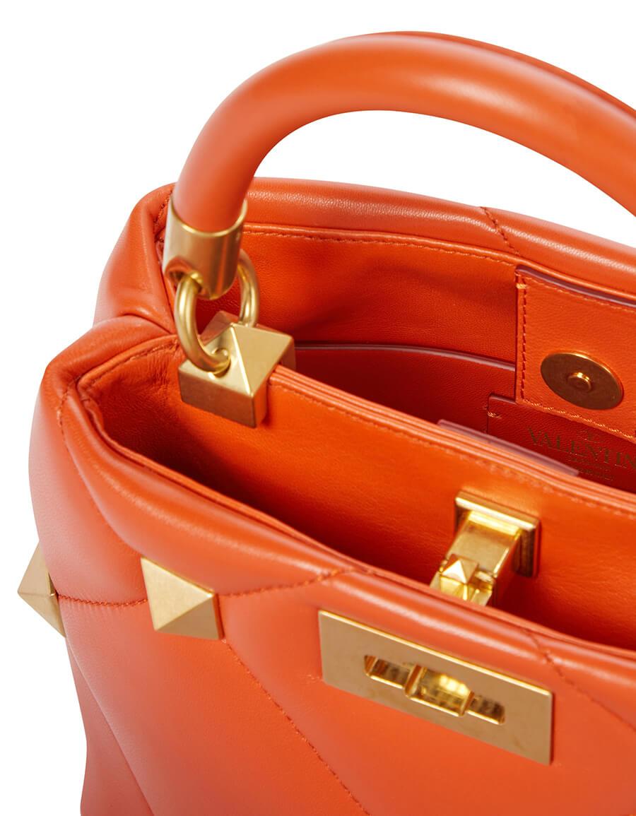 VALENTINO GARAVANI Valentino Garavani Roman Stud The Handle Small leather tote