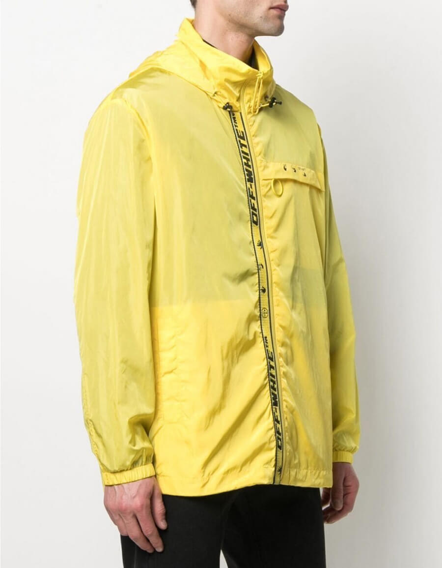 OFF WHITE WINDBREAKER JACKET