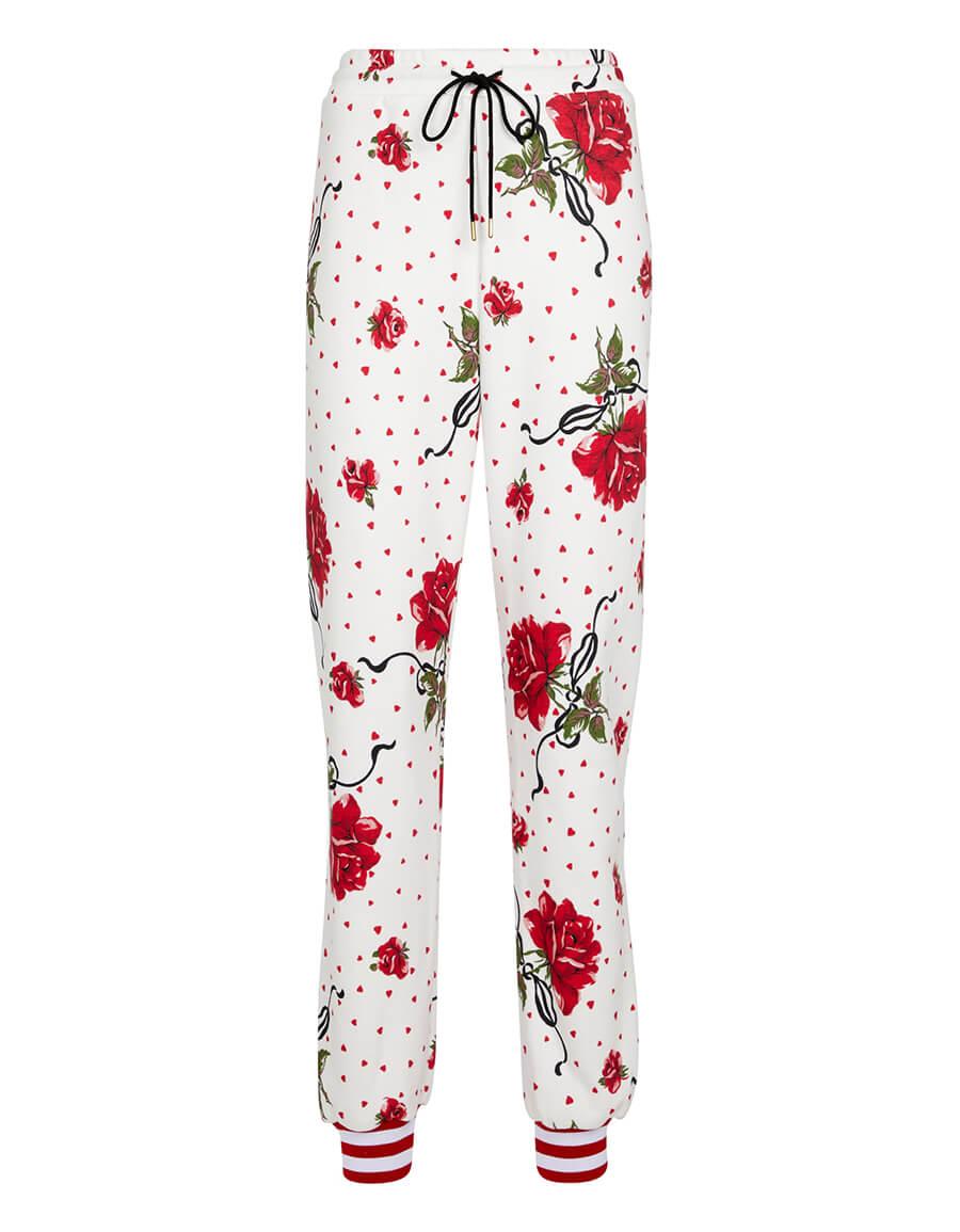 RODARTE Floral cotton blend sweatpants