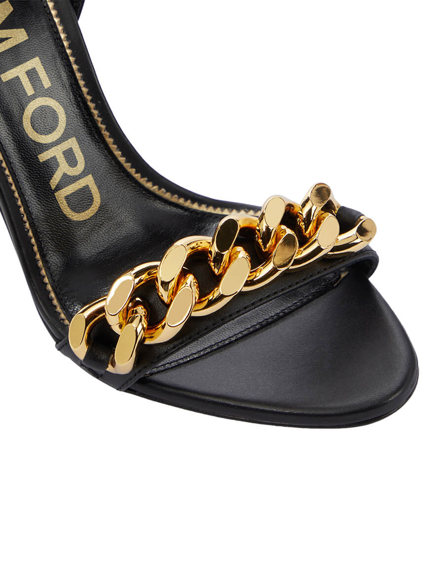 TOM FORD Chain trimmed leather sandals