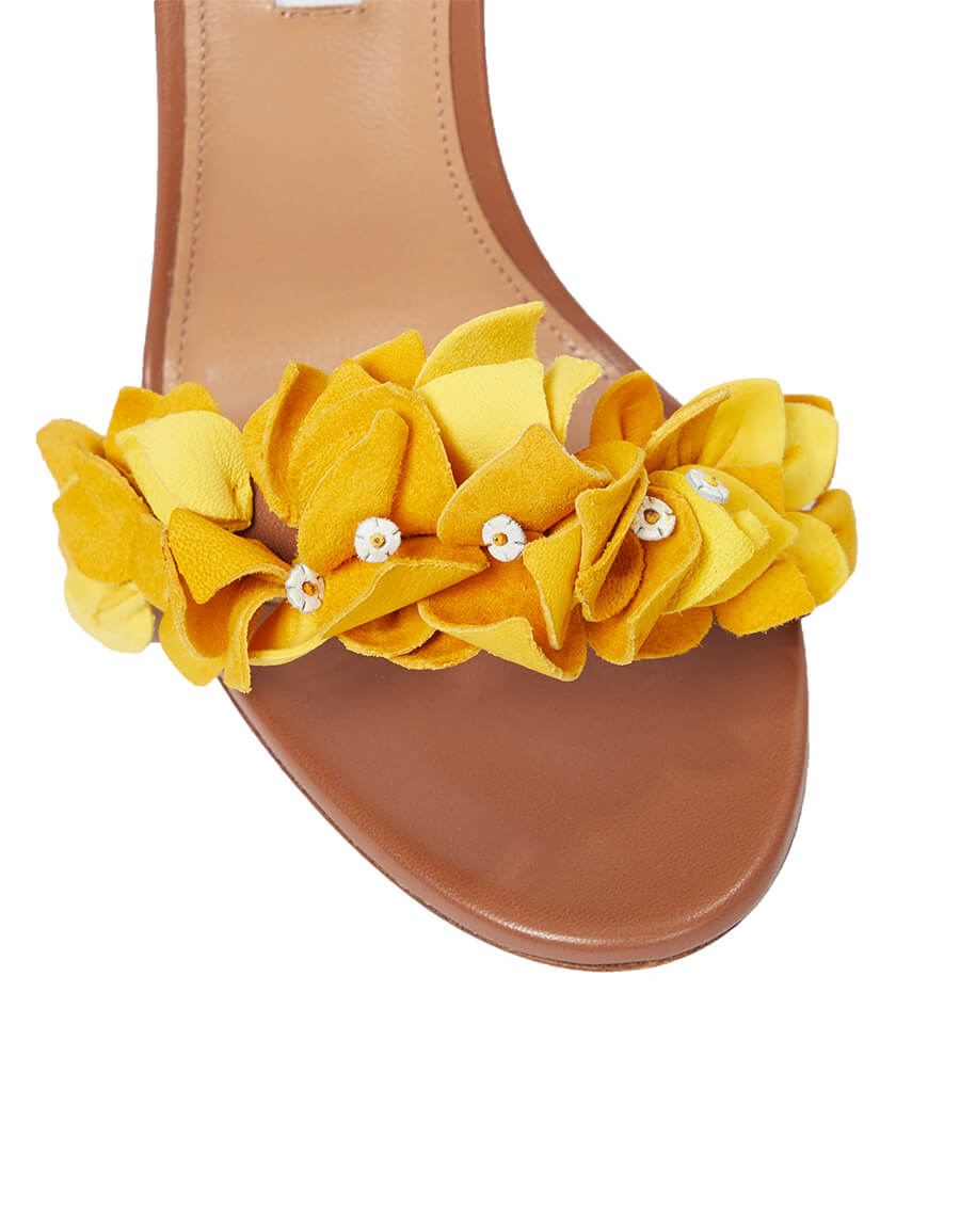 AQUAZZURA Bougainvillea 105 leather sandals