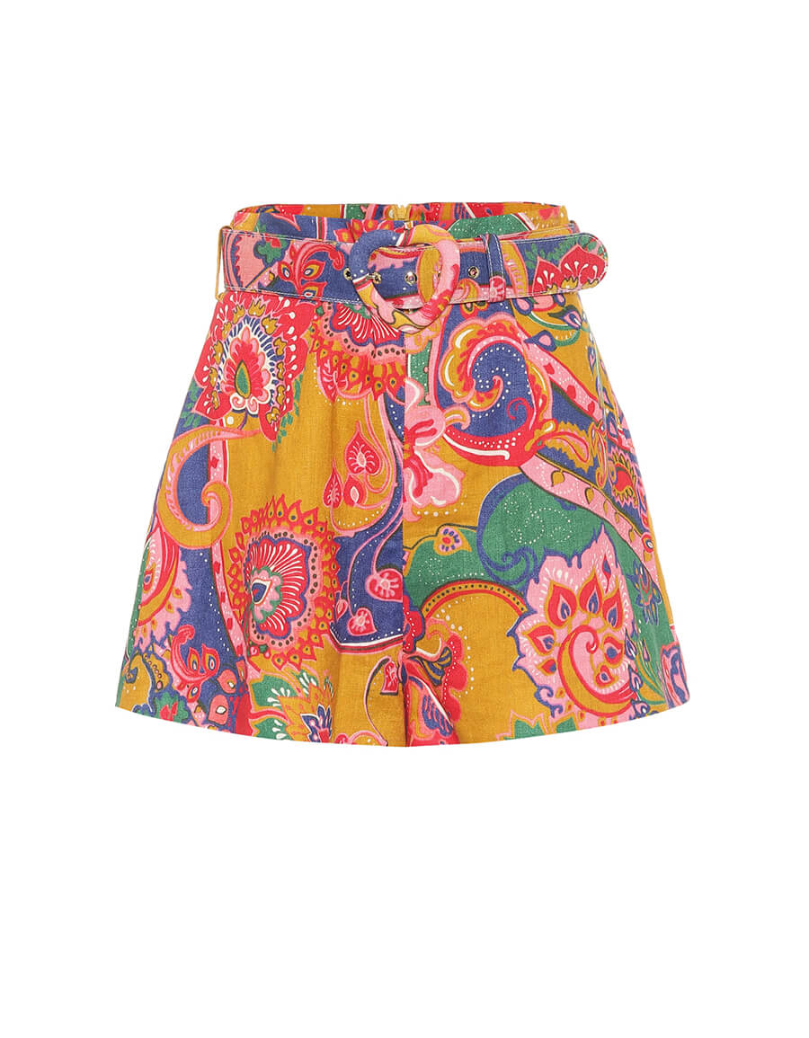 ZIMMERMANN Lovestruck printed linen shorts
