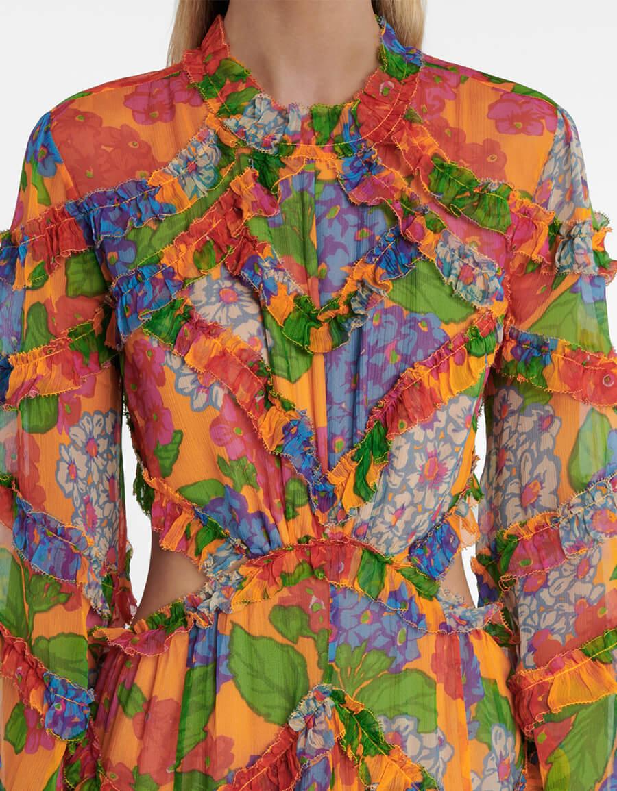 ZIMMERMANN Riders floral silk georgette minidress