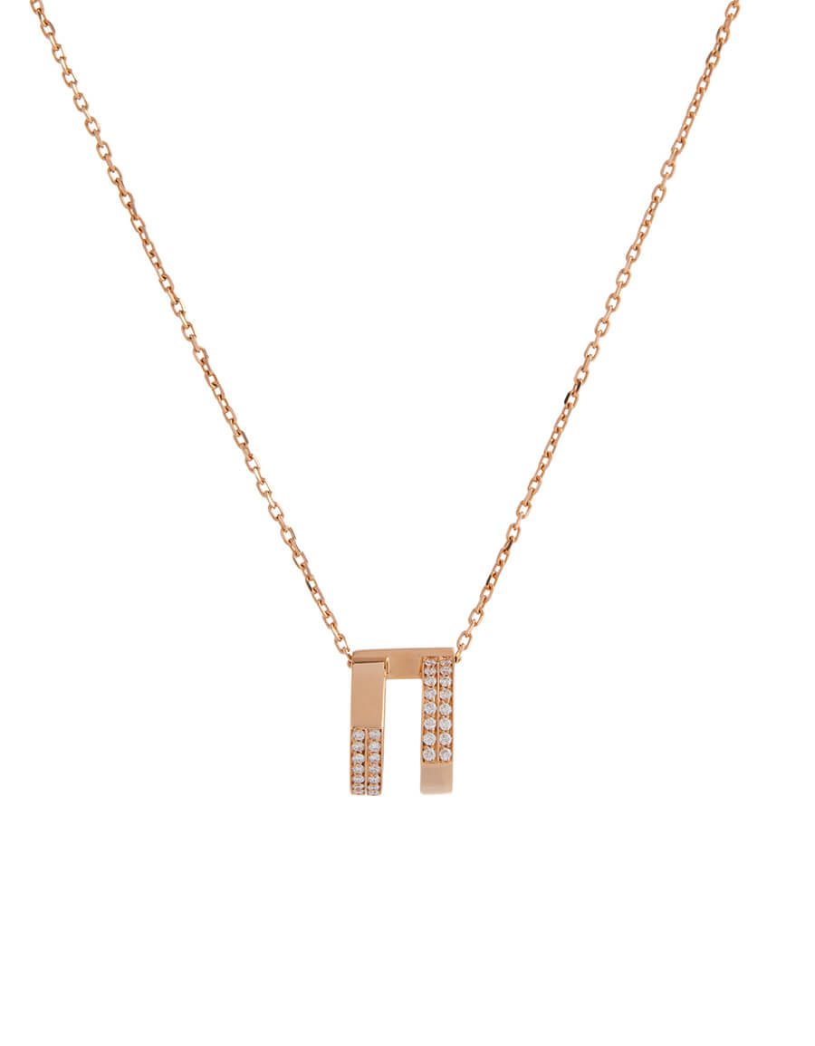 REPOSSI Antifer rose gold and diamond necklace