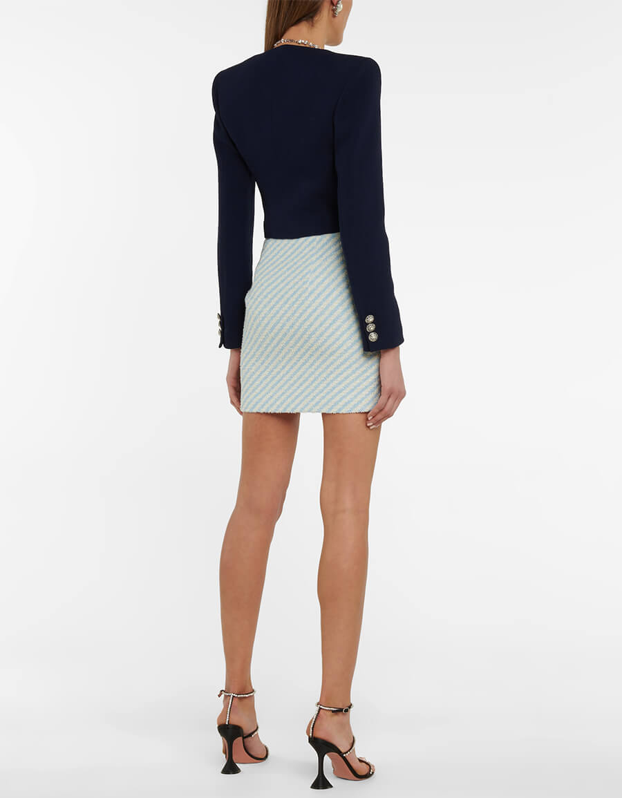 ALESSANDRA RICH Double breasted wool blend blazer