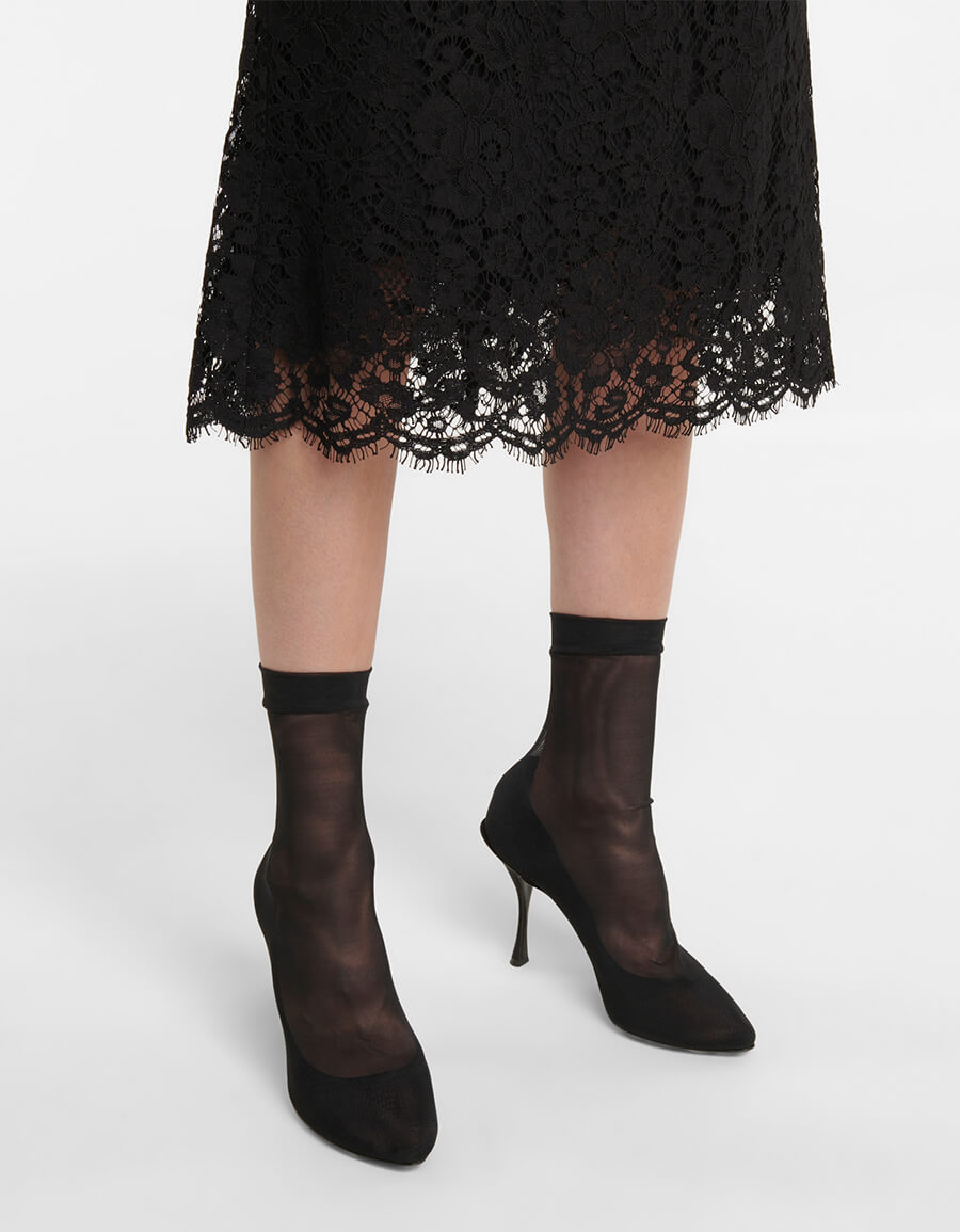 DOLCE & GABBANA Stretch tulle sock boots