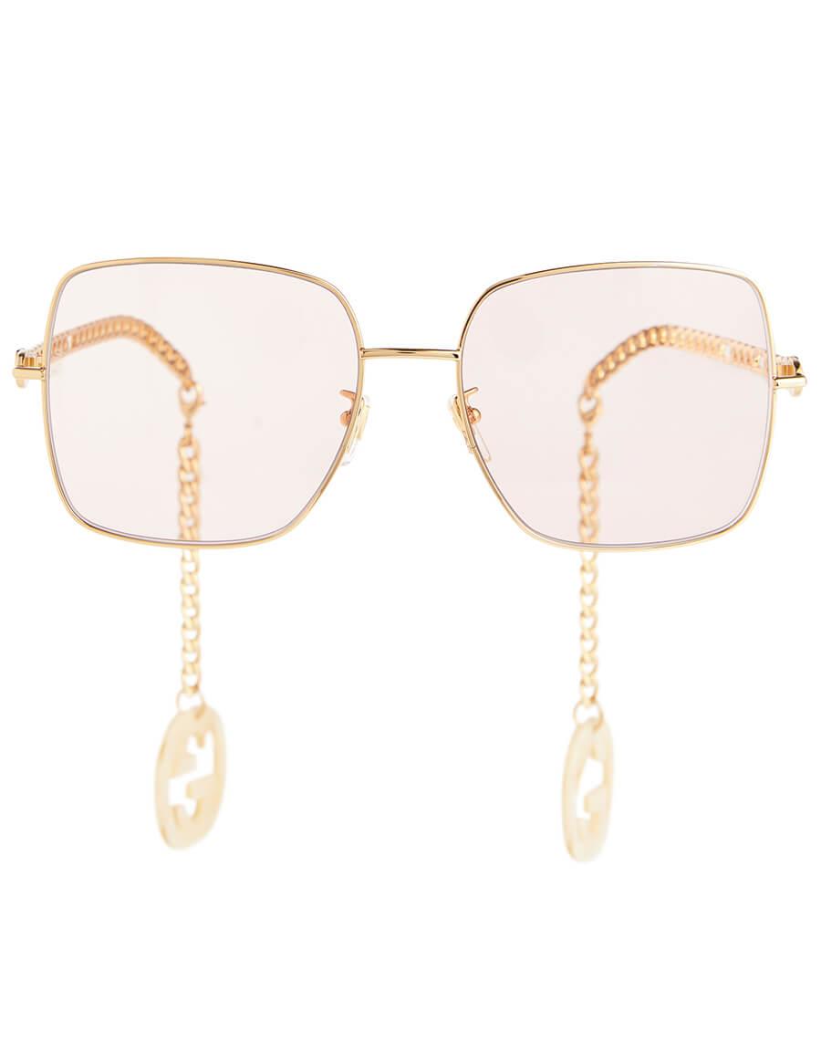 GUCCI Chain trimmed square sunglasses