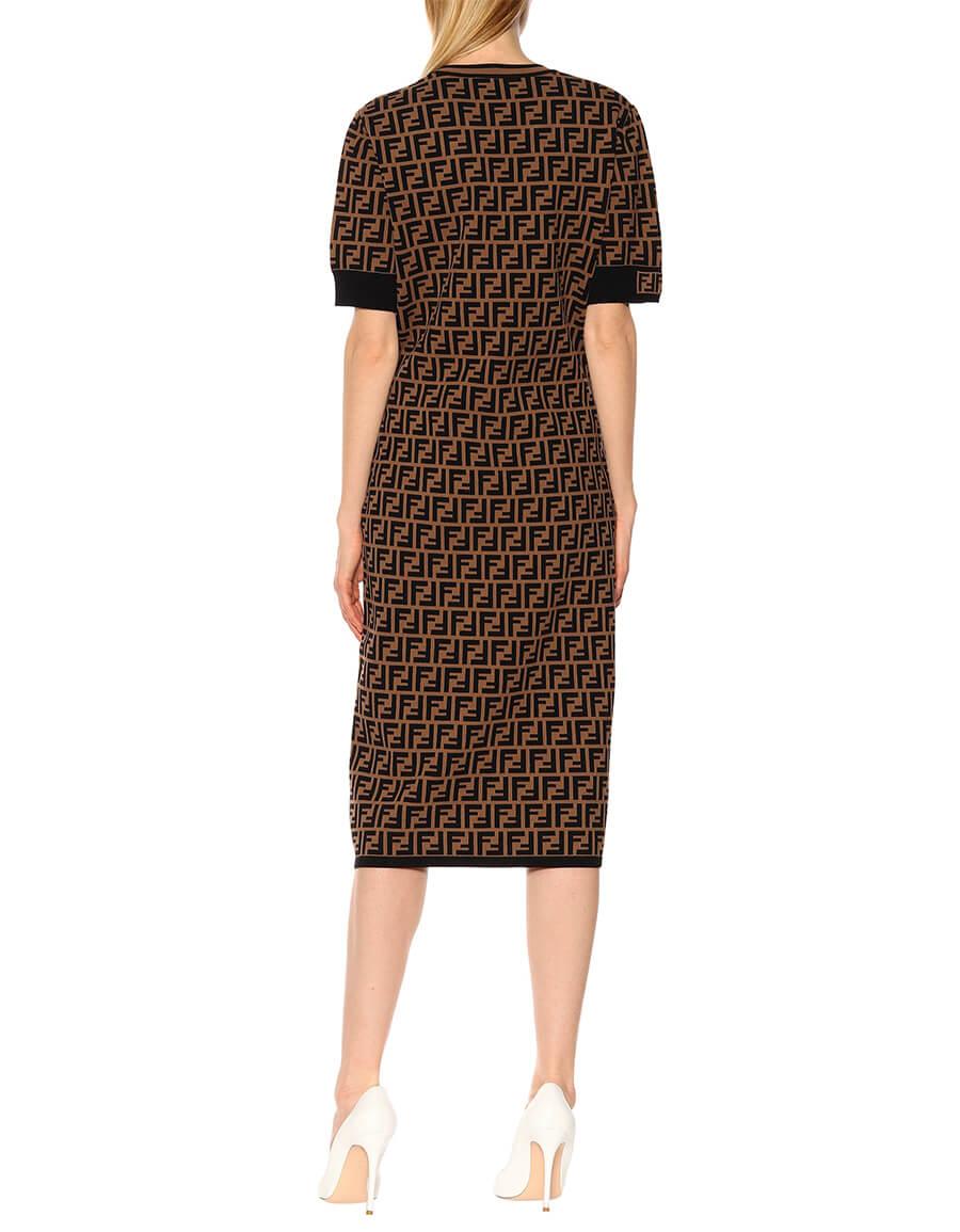 FENDI Stretch knit midi dress