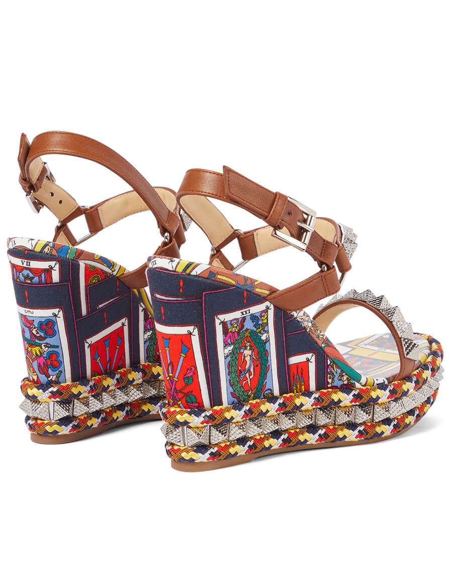 CHRISTIAN LOUBOUTIN Pyraclou 110 embellished wedge sandals