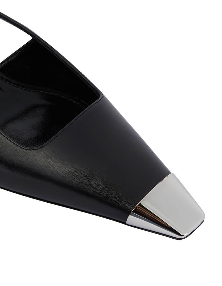 SAINT LAURENT Blade leather slingback pumps