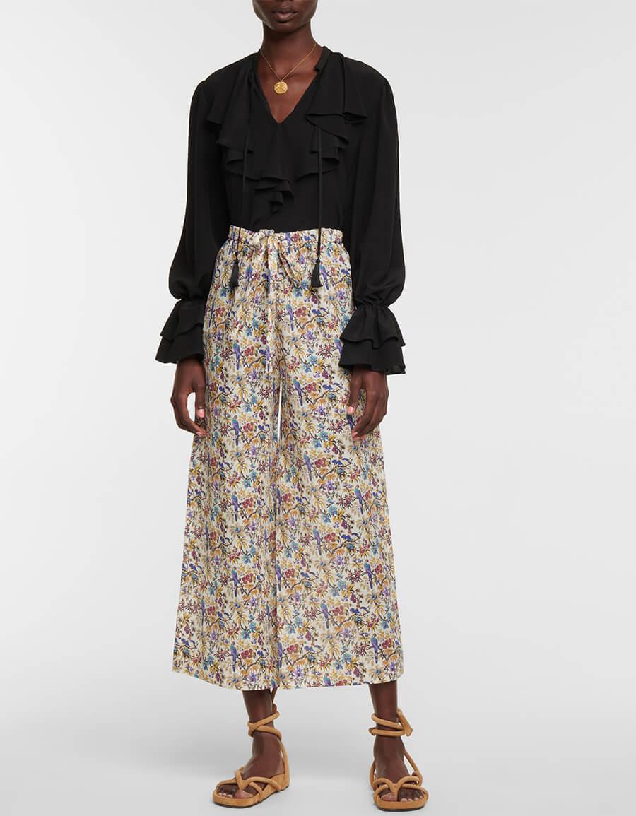 ETRO Floral ramie pants