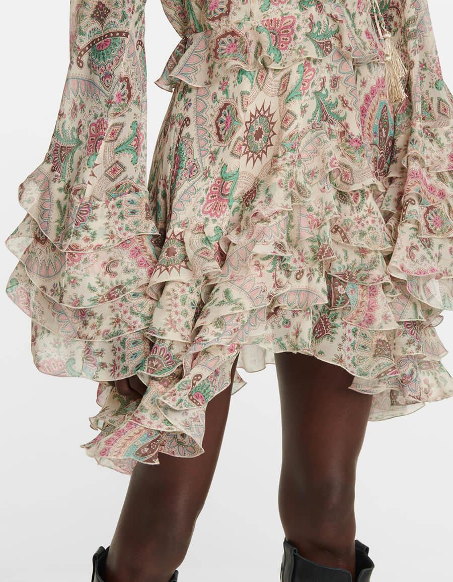 ETRO Paisley silk georgette minidress
