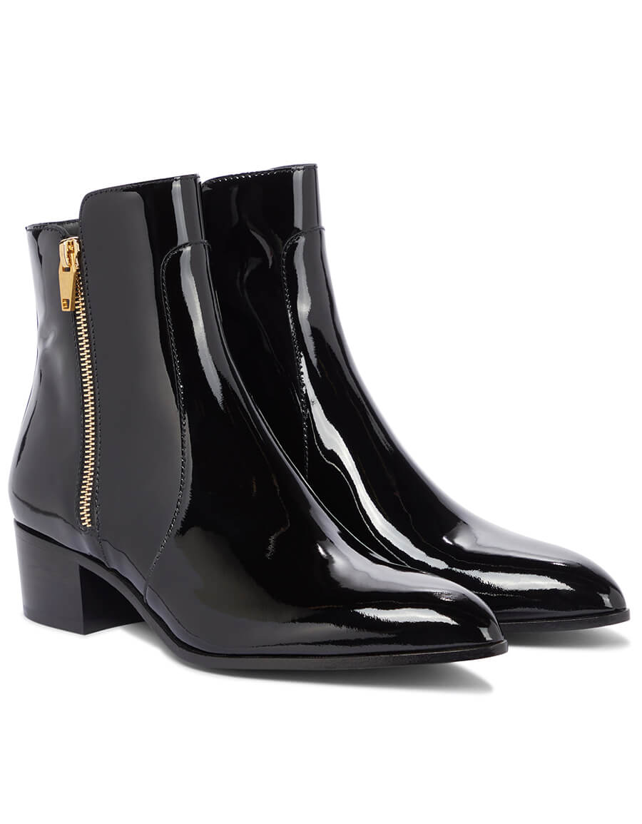 BALMAIN Roxie patent leather ankle boots