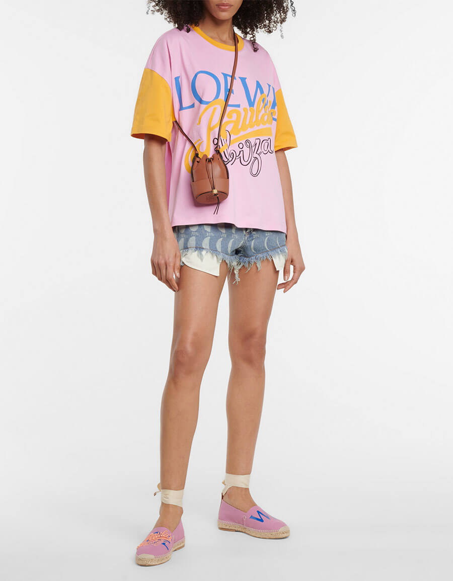 LOEWE Paula's Ibiza printed denim shorts