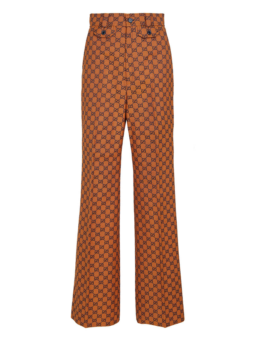GUCCI High rise straight GG jacquard pants