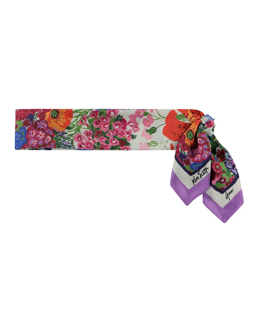 GUCCI x Ken Scott silk neck scarf