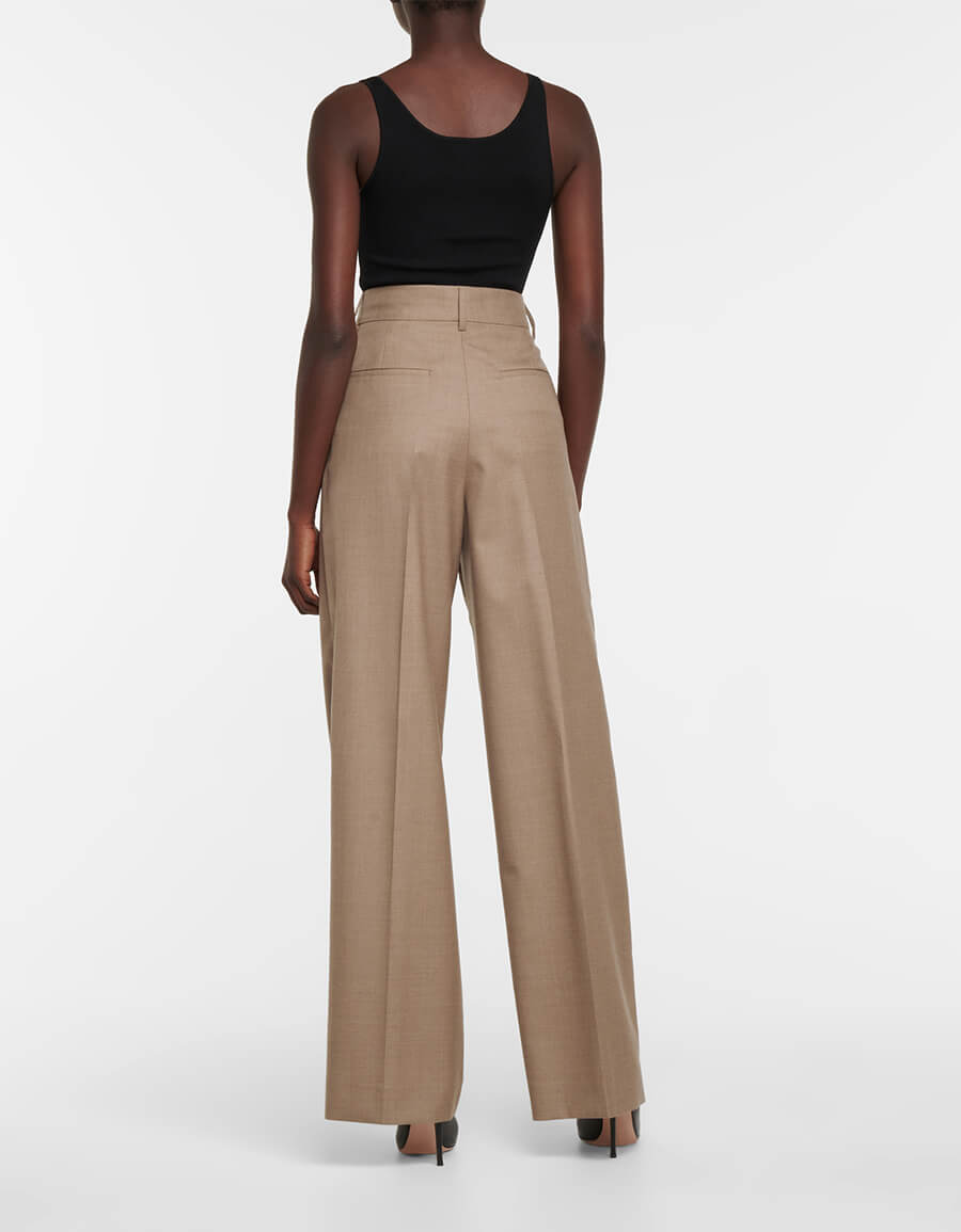 BURBERRY Wide leg virgin wool pants