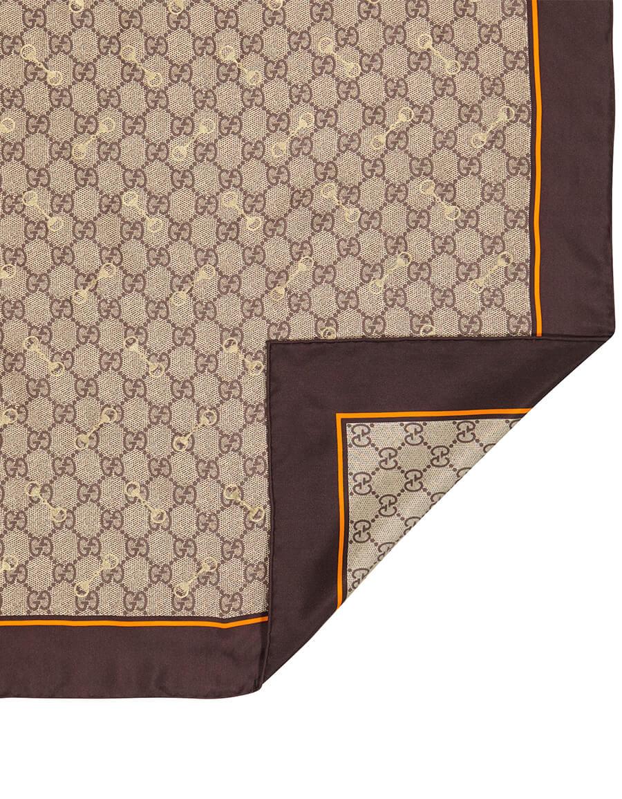 GUCCI GG printed silk scarf