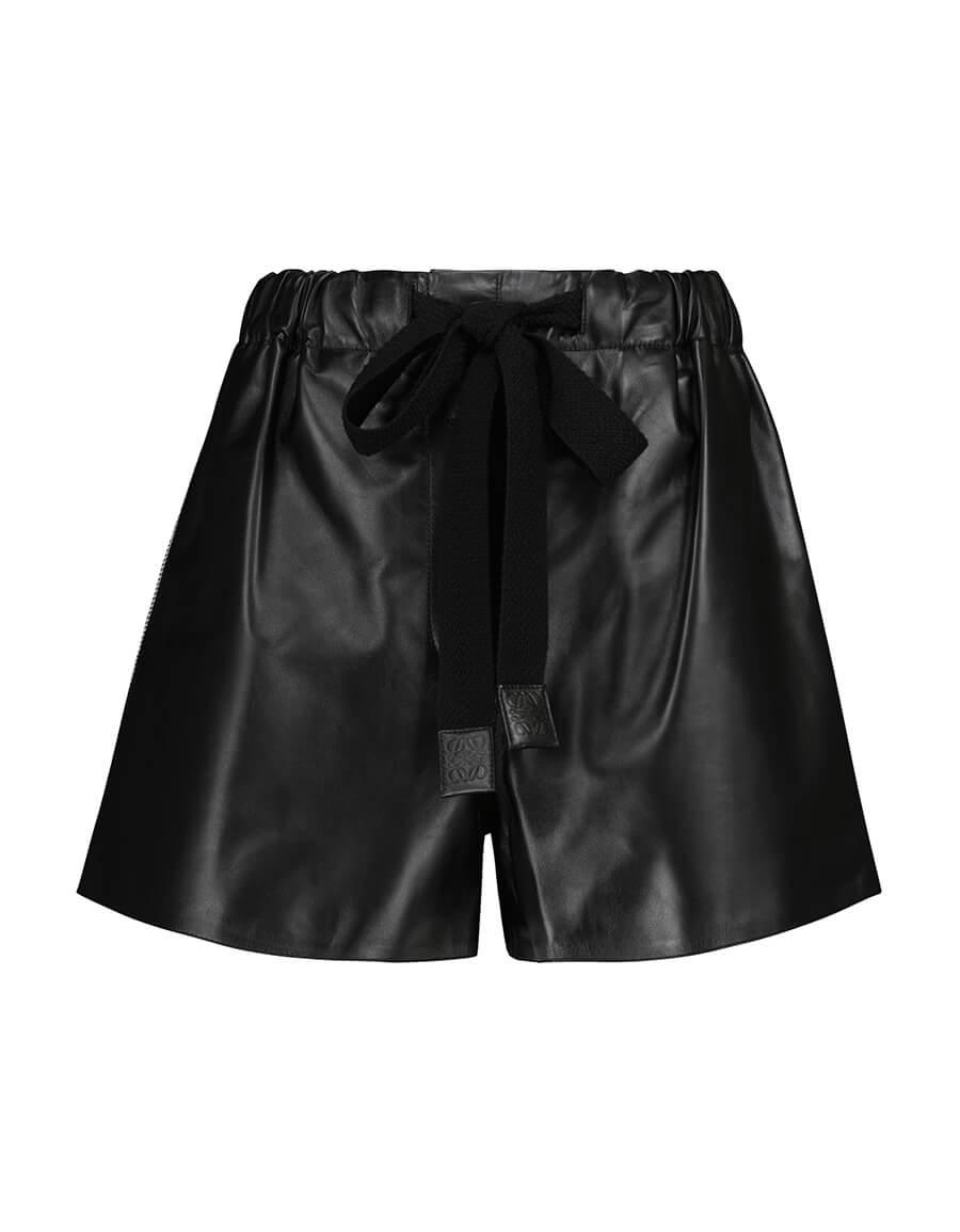 LOEWE High rise leather shorts