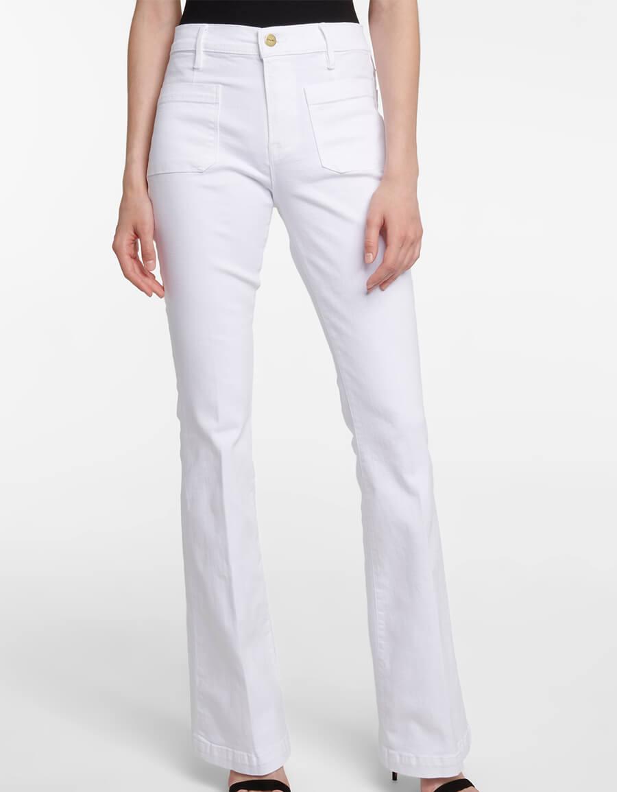 FRAME Le Bardot high rise flared jeans