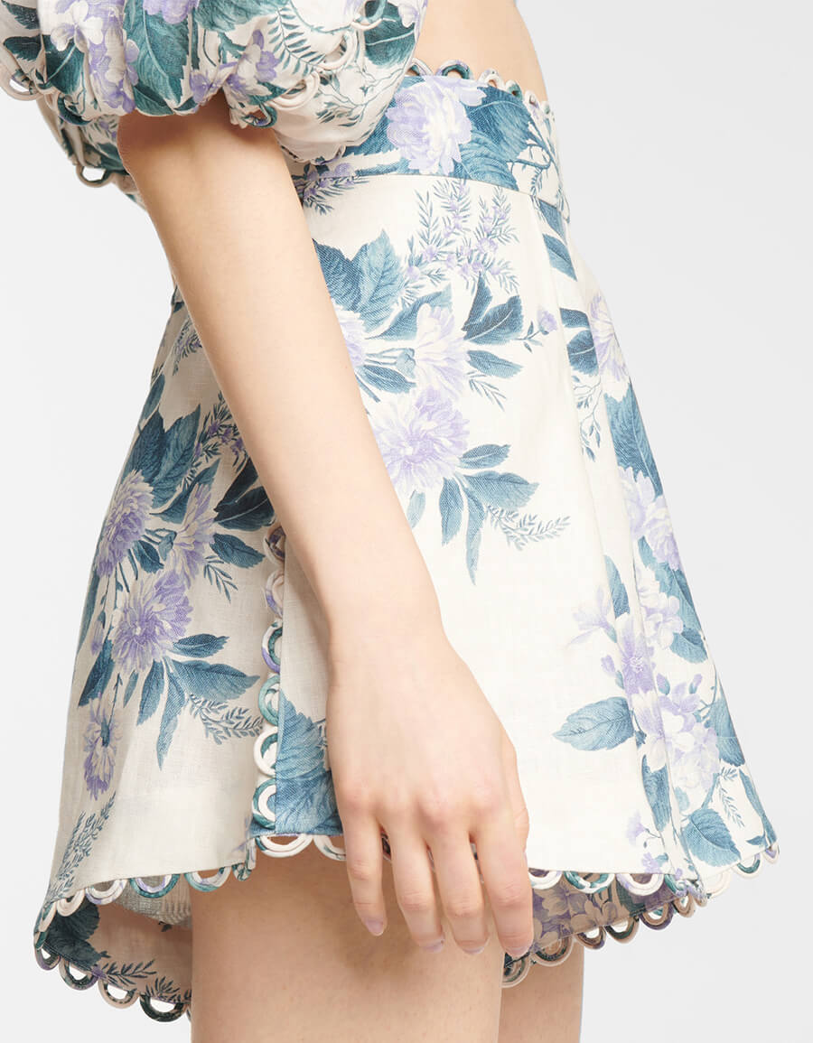 ZIMMERMANN Exclusive to Mytheresa – Floral linen shorts