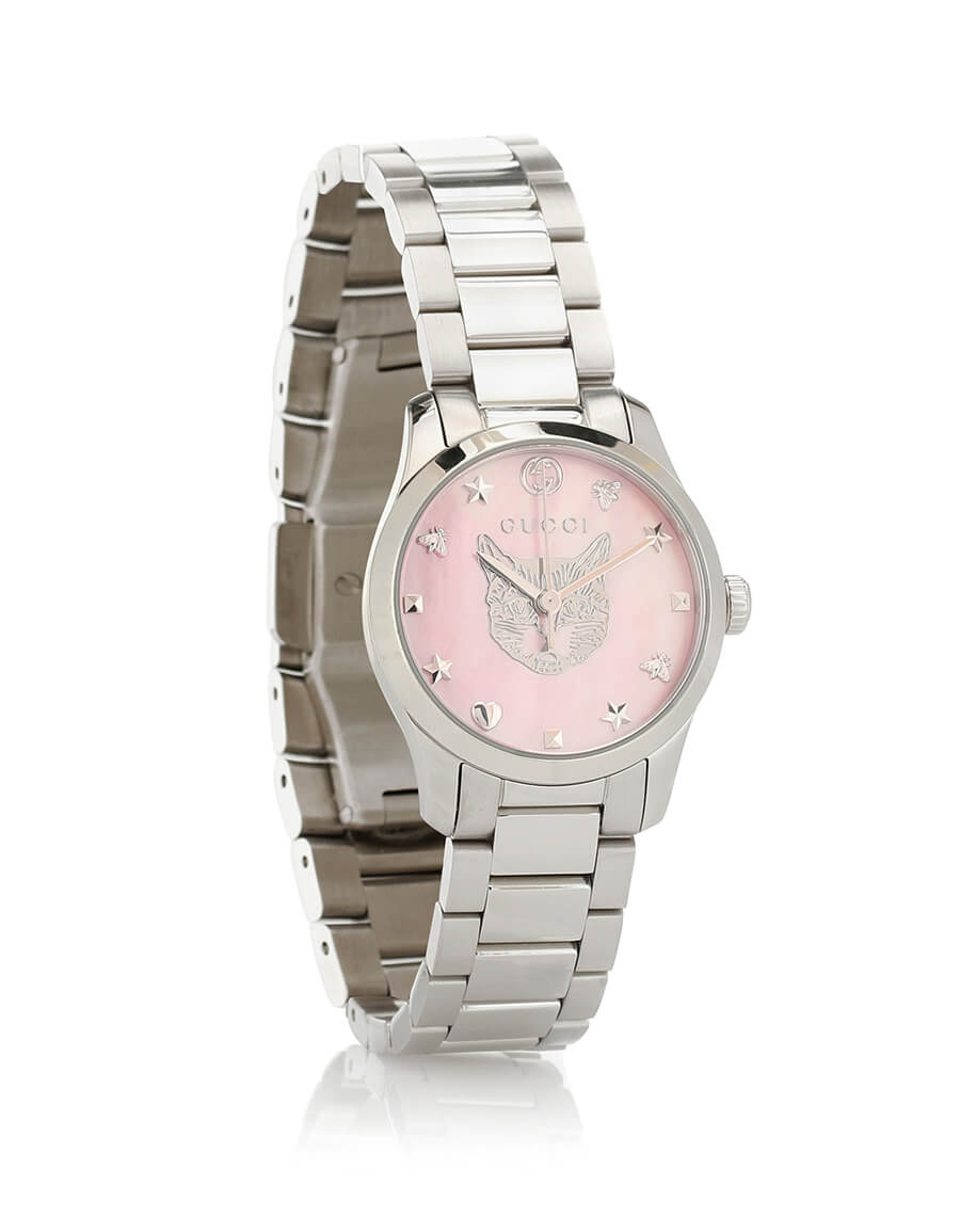 GUCCI G Timeless 27mm stainless steel watch