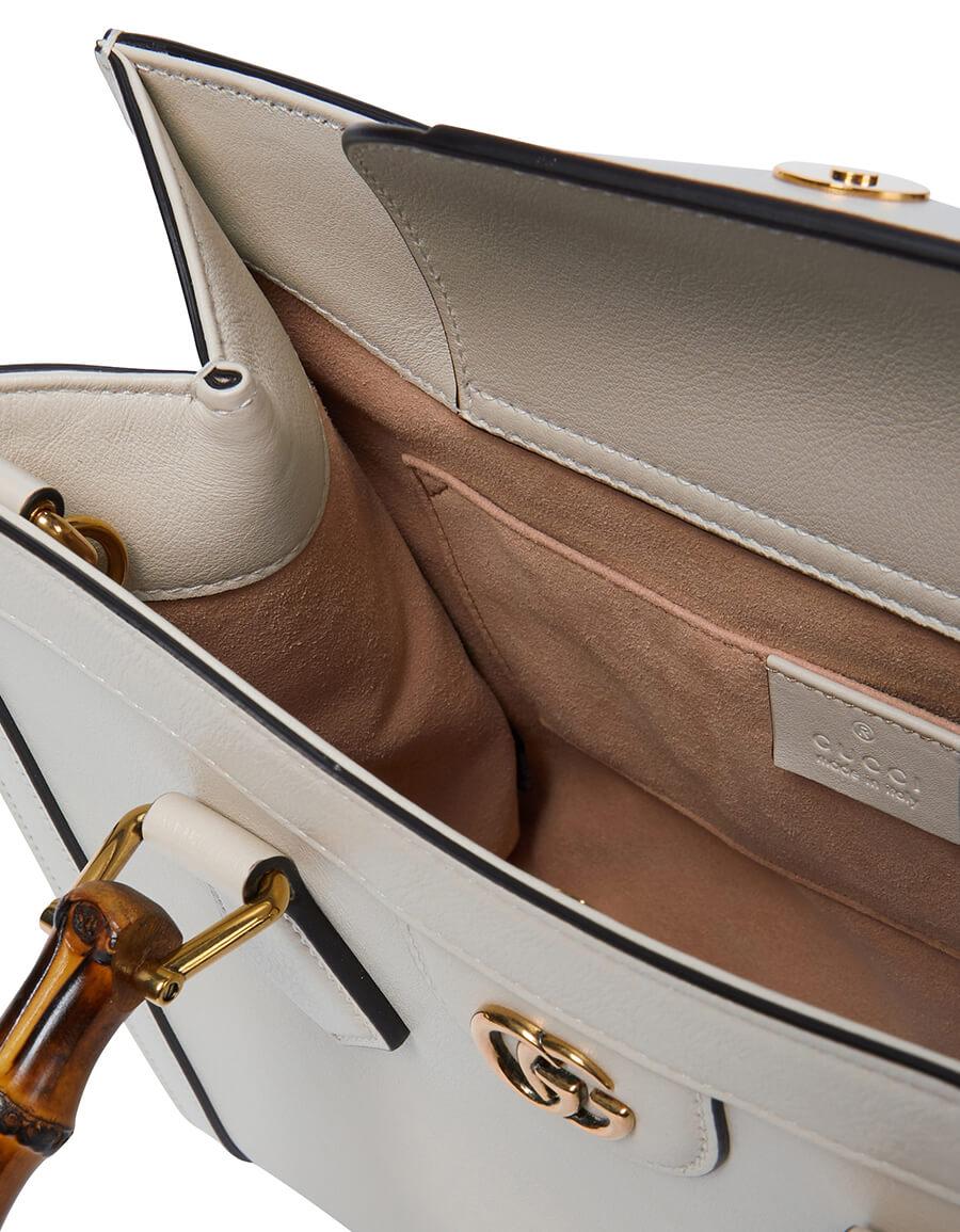 GUCCI Diana Small leather tote