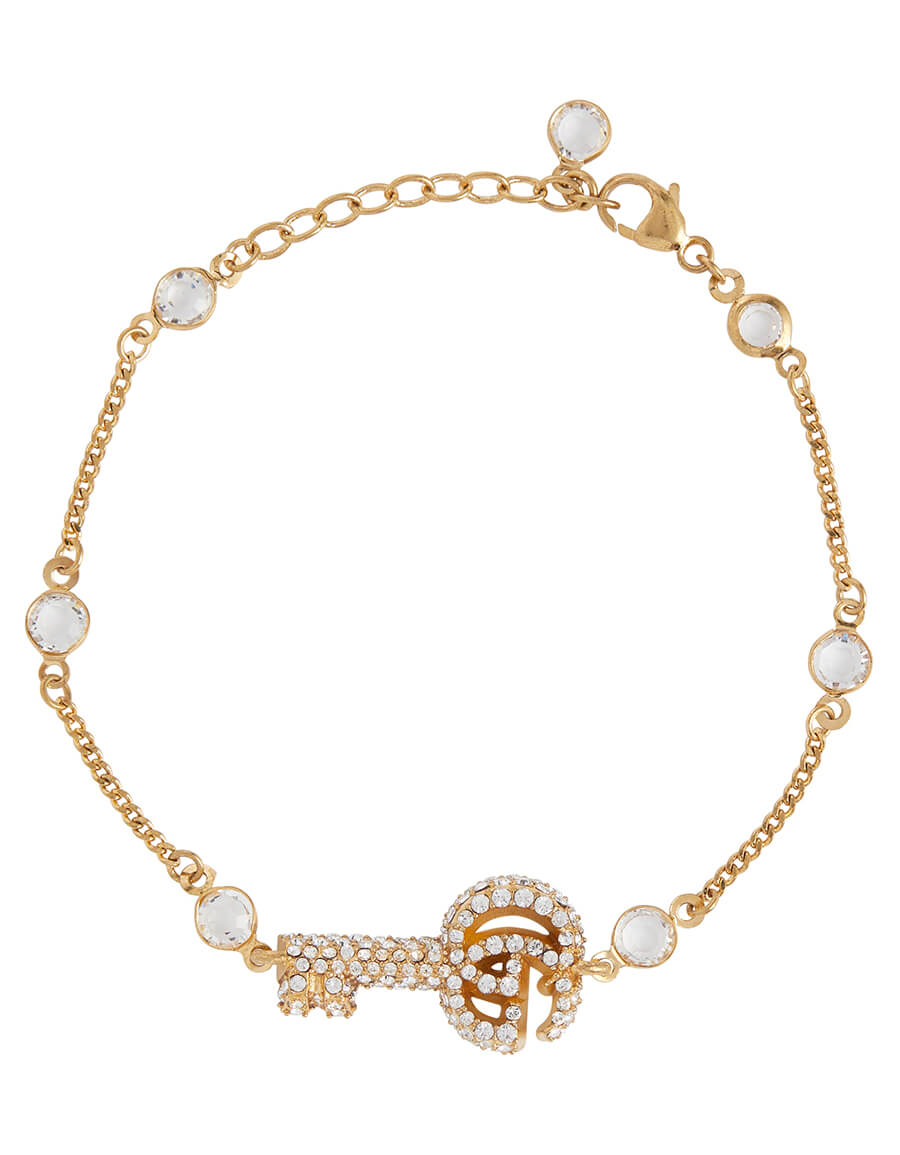 GUCCI Double G crystal bracelet