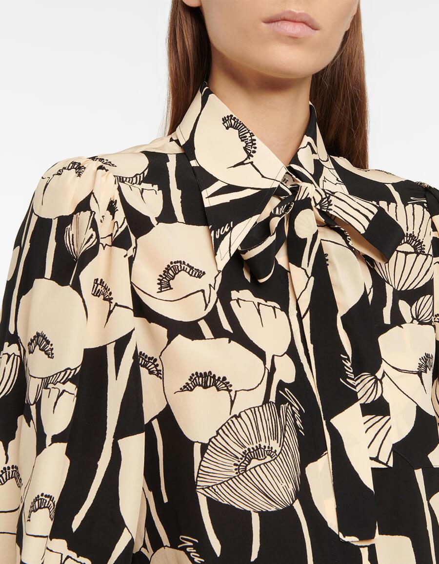 GUCCI Floral silk shirt