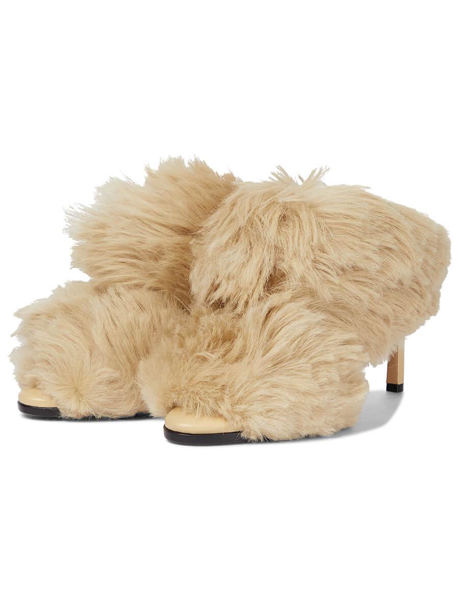 BOTTEGA VENETA The Curve shearling sandals