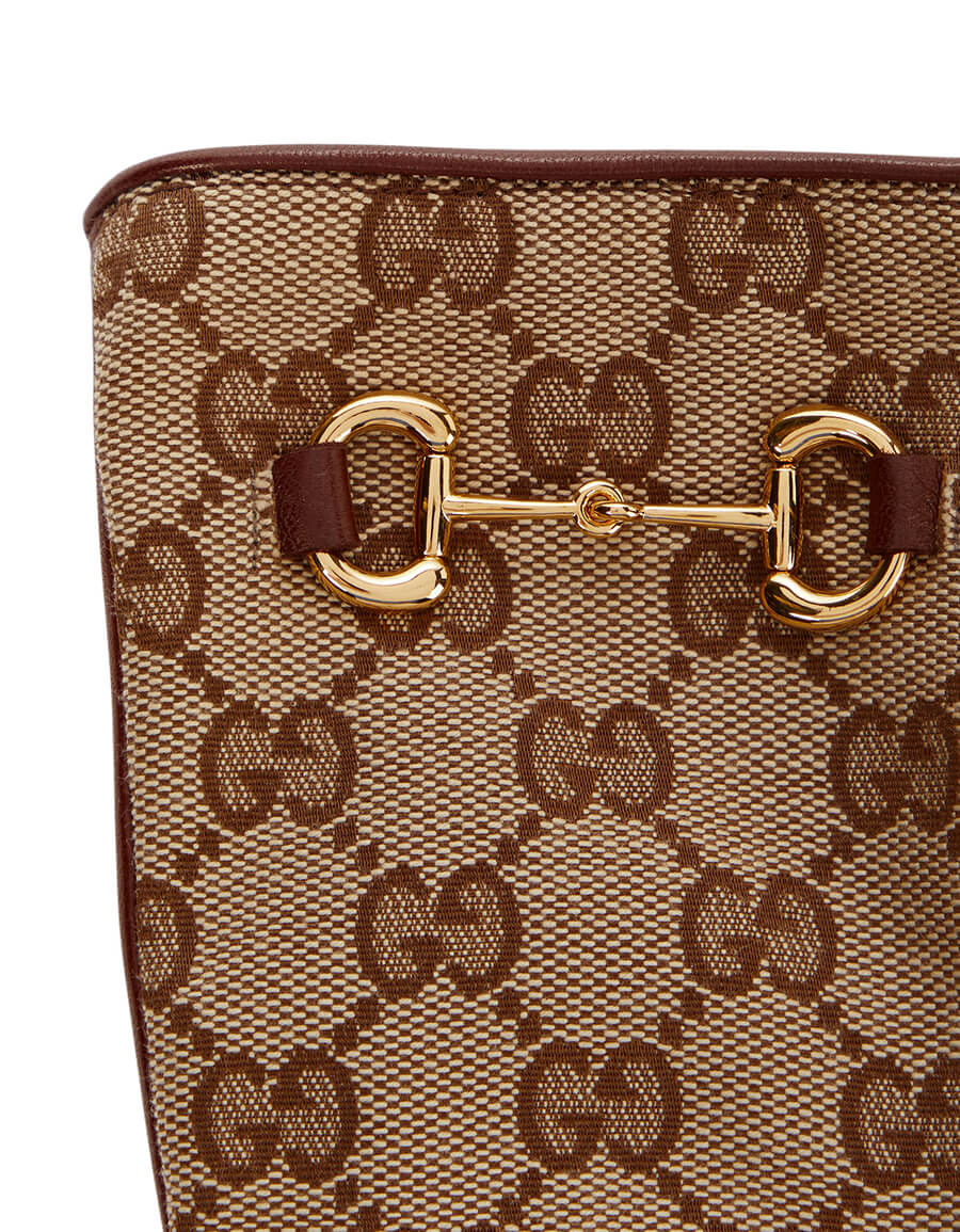 GUCCI GG canvas and leather gloves