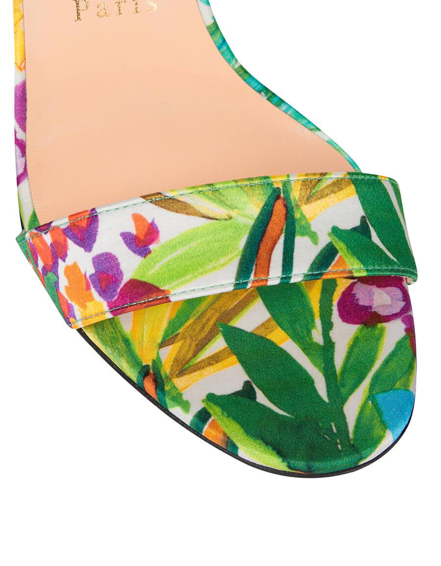 CHRISTIAN LOUBOUTIN Floral satin sandals