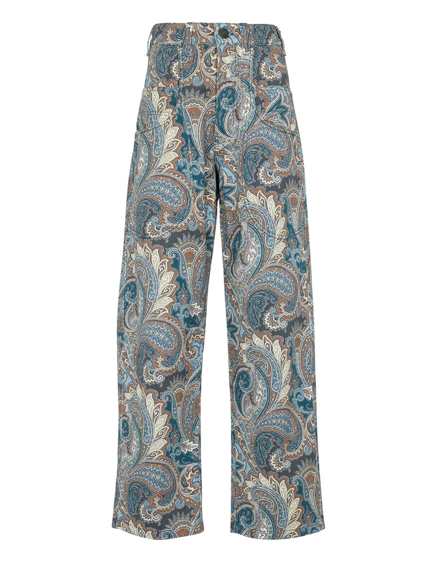 ETRO Paisley high rise wide jeans