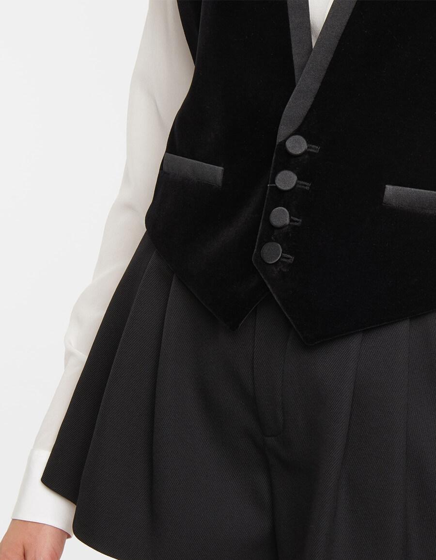 SAINT LAURENT Velvet vest