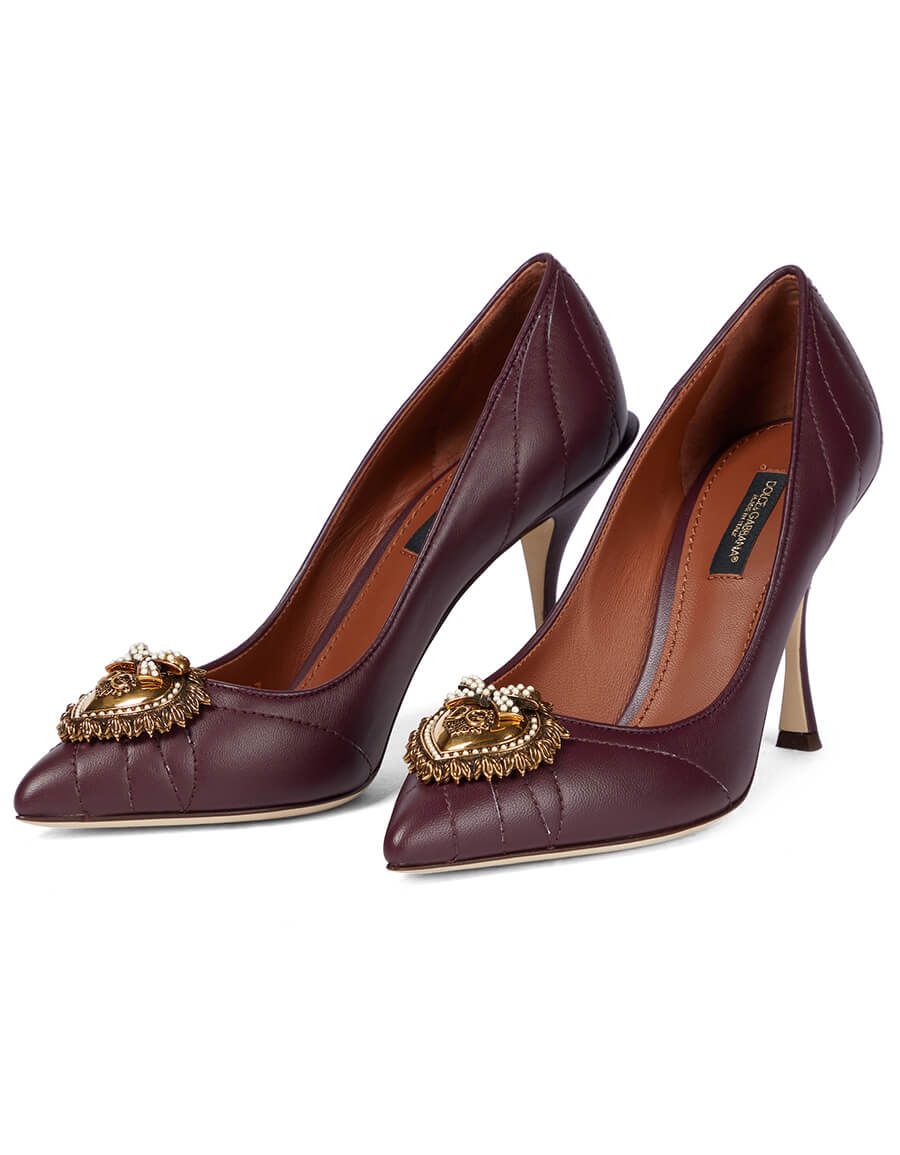 DOLCE & GABBANA Devotion leather pumps