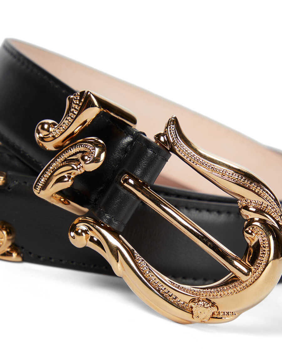 VERSACE Buckled leather belt