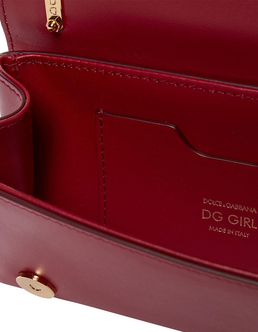 DOLCE & GABBANA DG Girls Mini leather shoulder bag