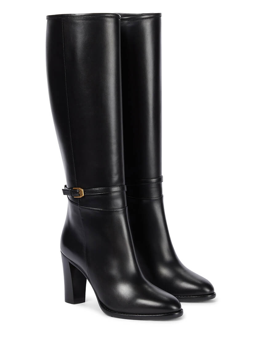 GUCCI Leather knee high boots