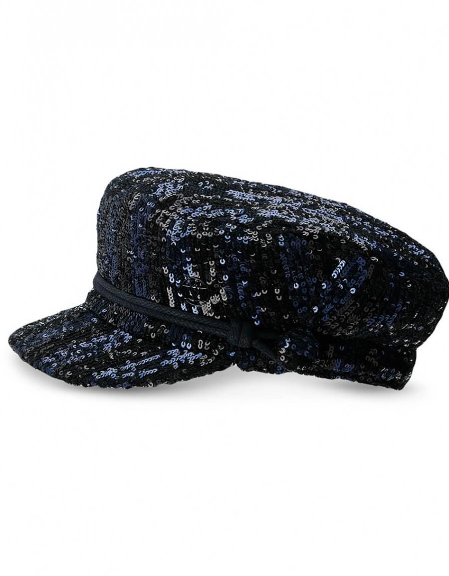 MAISON MICHEL ABBY SEQUIN STRIPE HAT