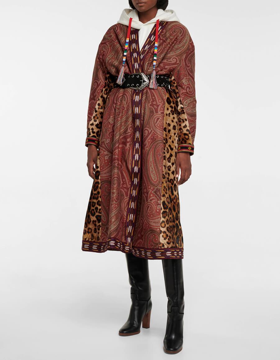 ETRO Paisley jacquard cotton blend coat