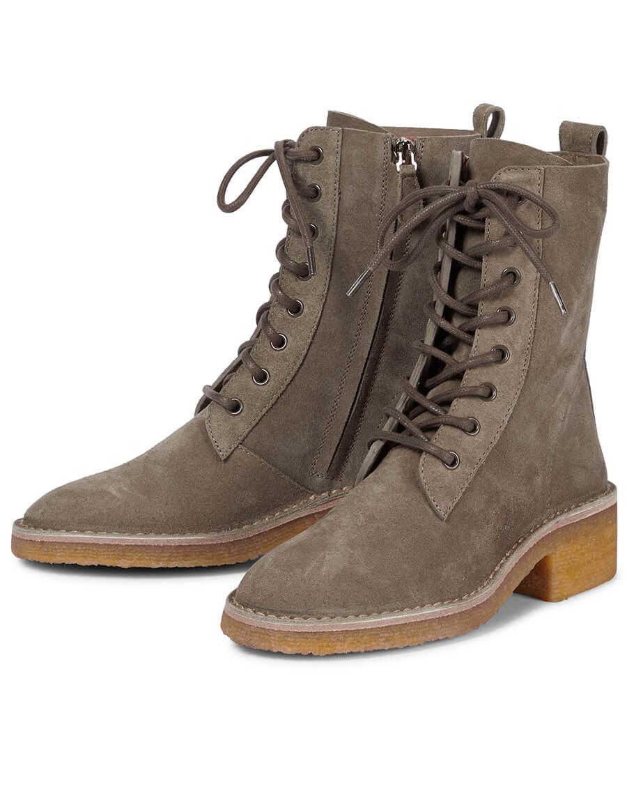 CHLOÉ Edith suede combat boots