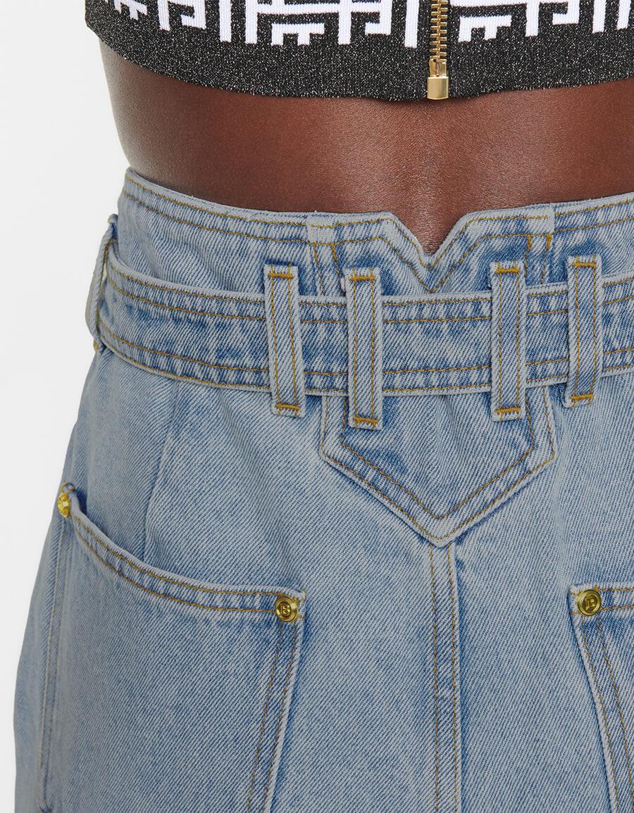 BALMAIN High rise boyfriend jeans