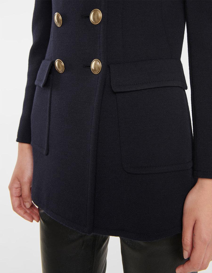SAINT LAURENT Wool blend jersey knit blazer