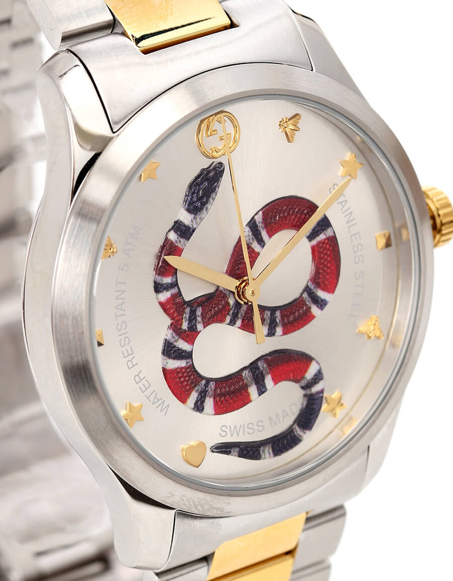 GUCCI G Timeless 38mm stainless steel watch