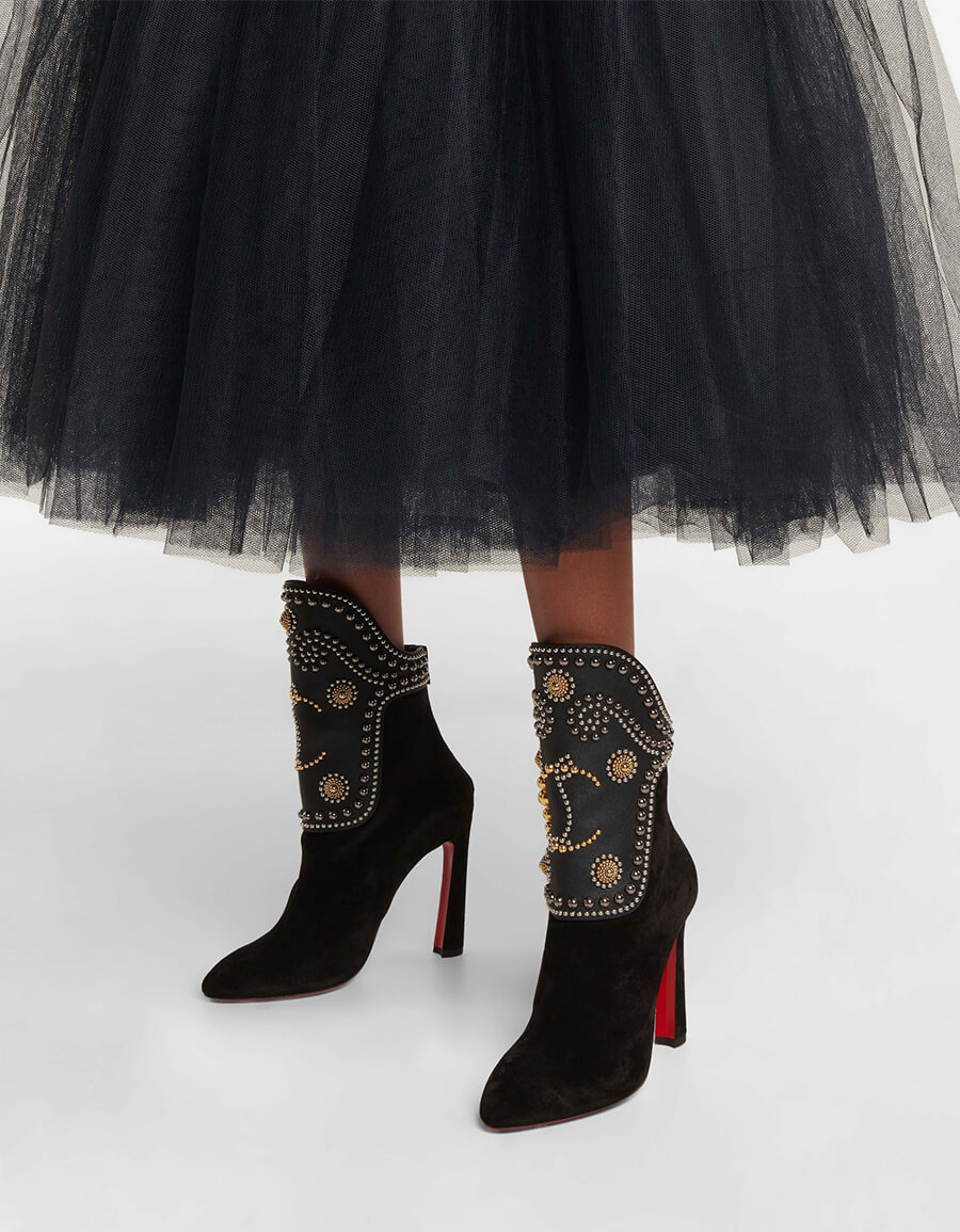 CHRISTIAN LOUBOUTIN Alix 100 studded suede boots