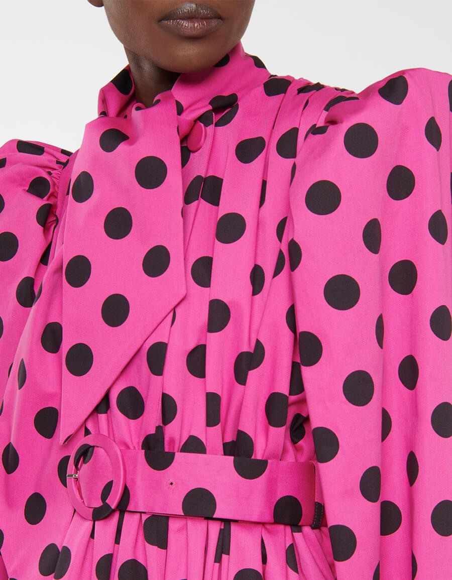 BALENCIAGA Polka dot cotton midi dress
