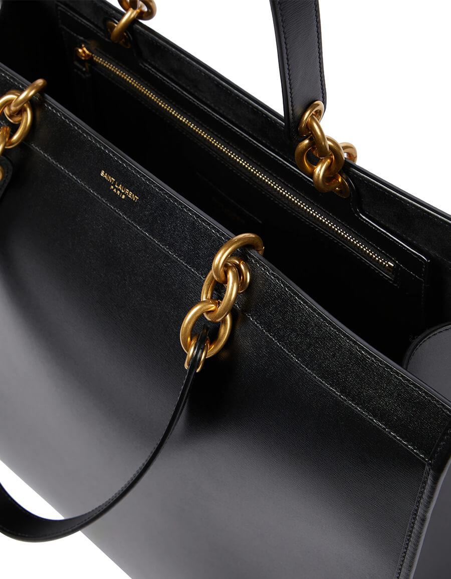 SAINT LAURENT Le Maillon Large leather tote